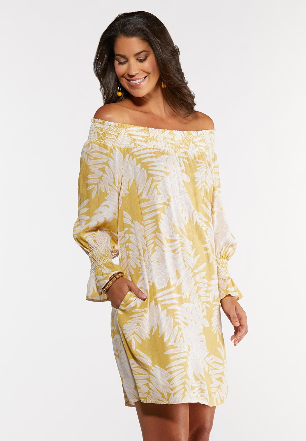 Plus Size Embroidered Smocked Peasant Dress (Item #44243798)