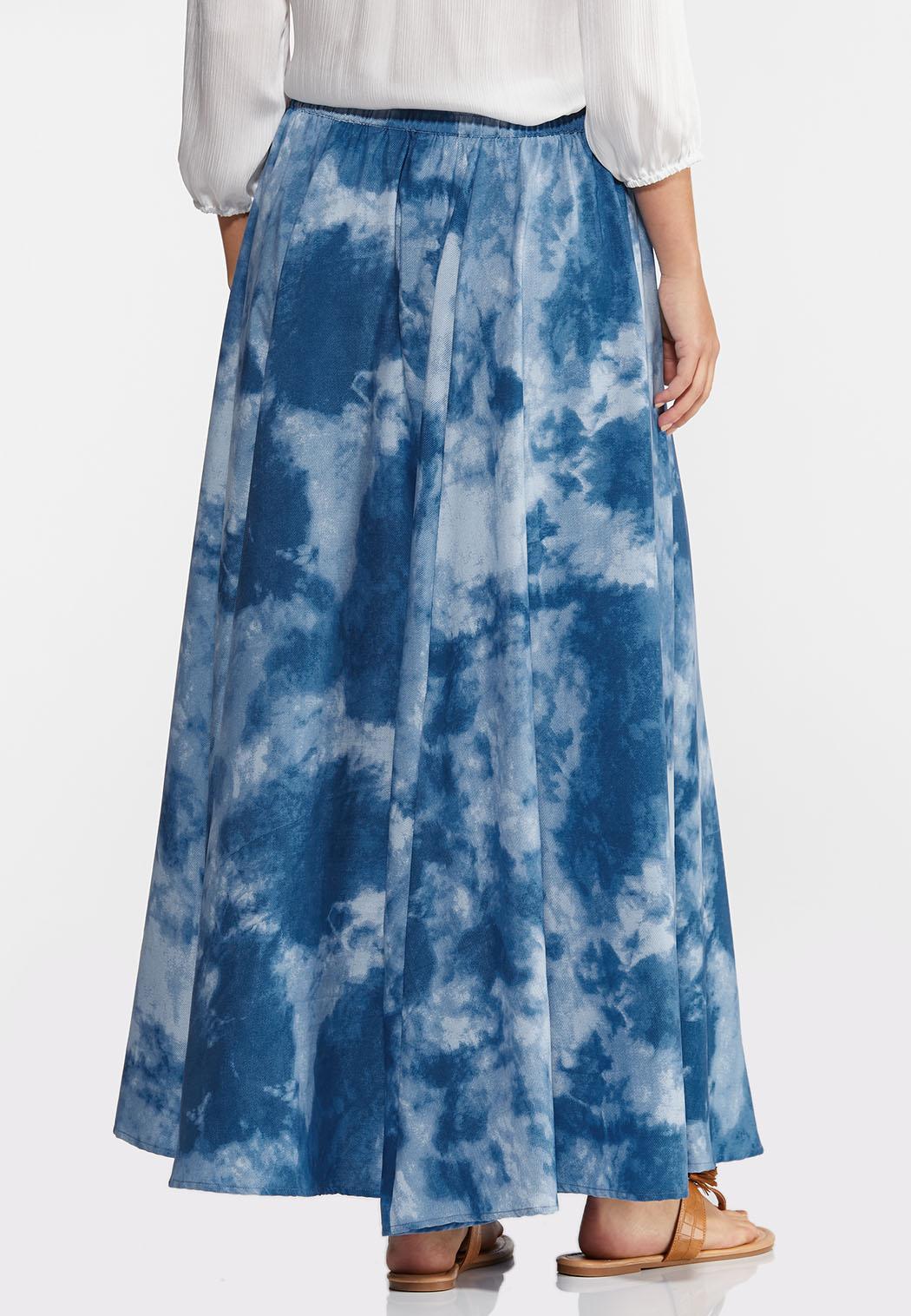 Sky Tie Dye Maxi Skirt (Item #44244693)