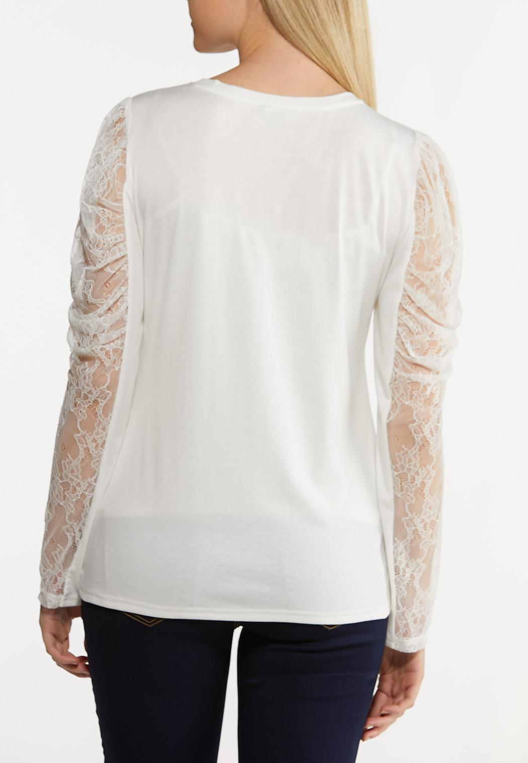 Lacy Puff Sleeve Top (Item #44245438)