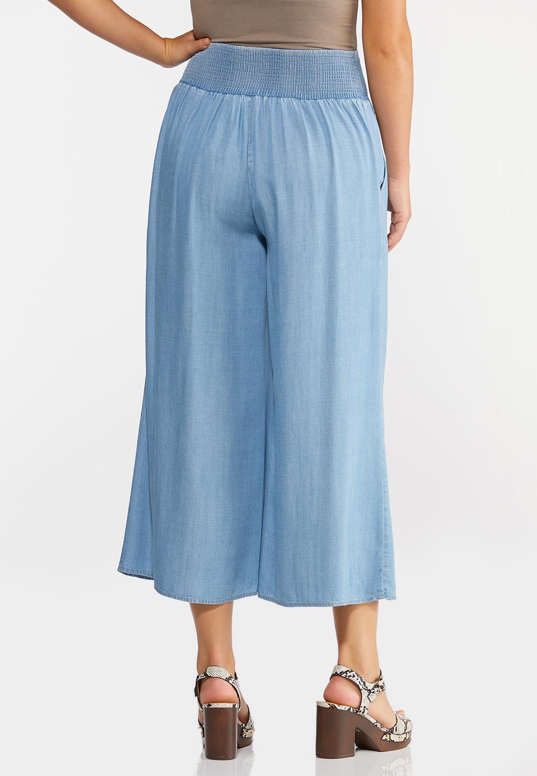 Cropped Chambray Pants (Item #44246785)