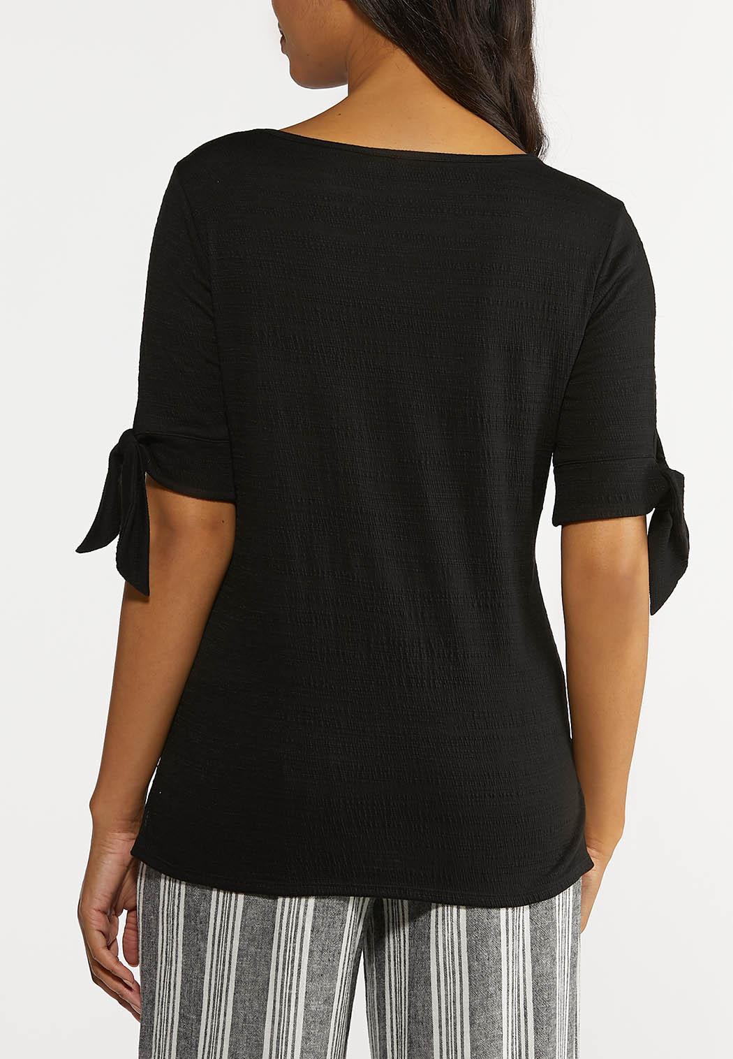 Gauze Tie Sleeve Top (Item #44249200)