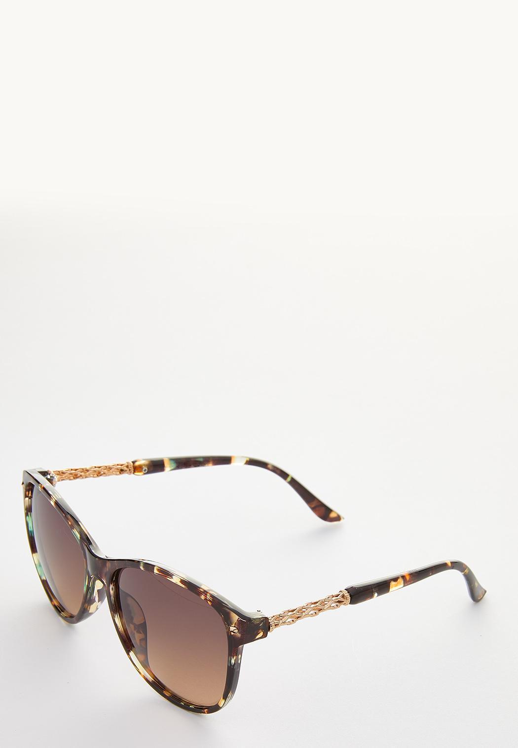 Green Tortoise Round Sunglasses (Item #44249286)