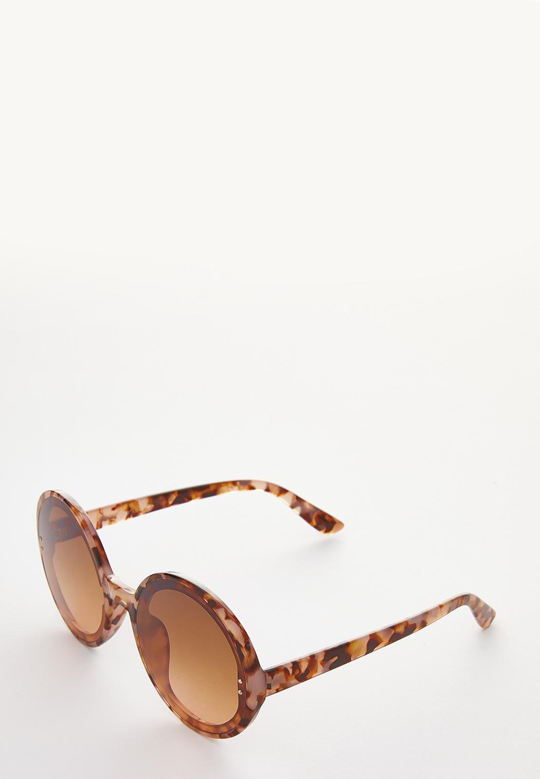 Tortoise Oversized Round Sunglasses (Item #44249289)