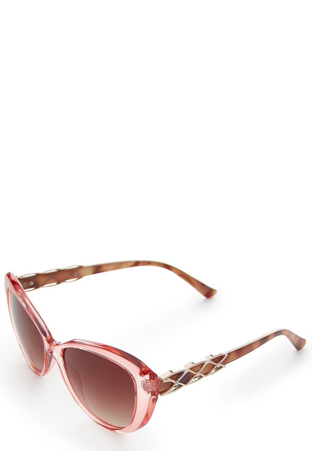 Pink Lucite Oval Sunglasses (Item #44249312)