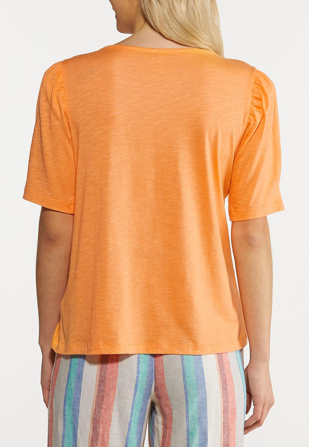 Plus Size Puff Sleeve Tee (Item #44249646)