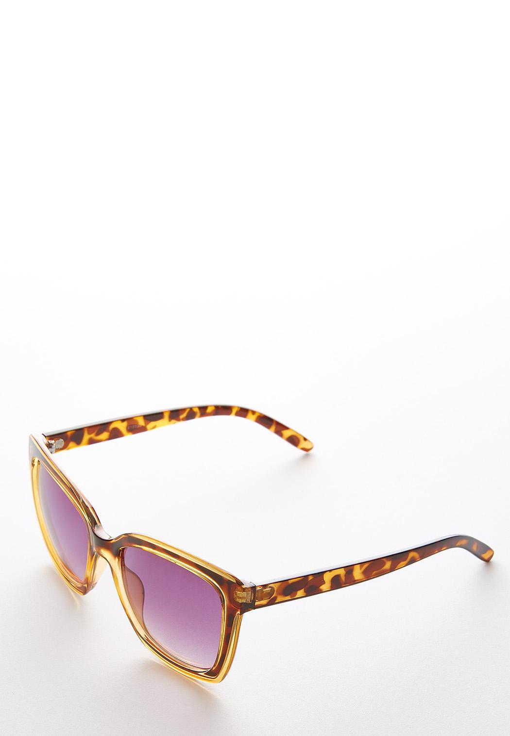 Tortoise Lucite Square Sunglasses (Item #44249684)