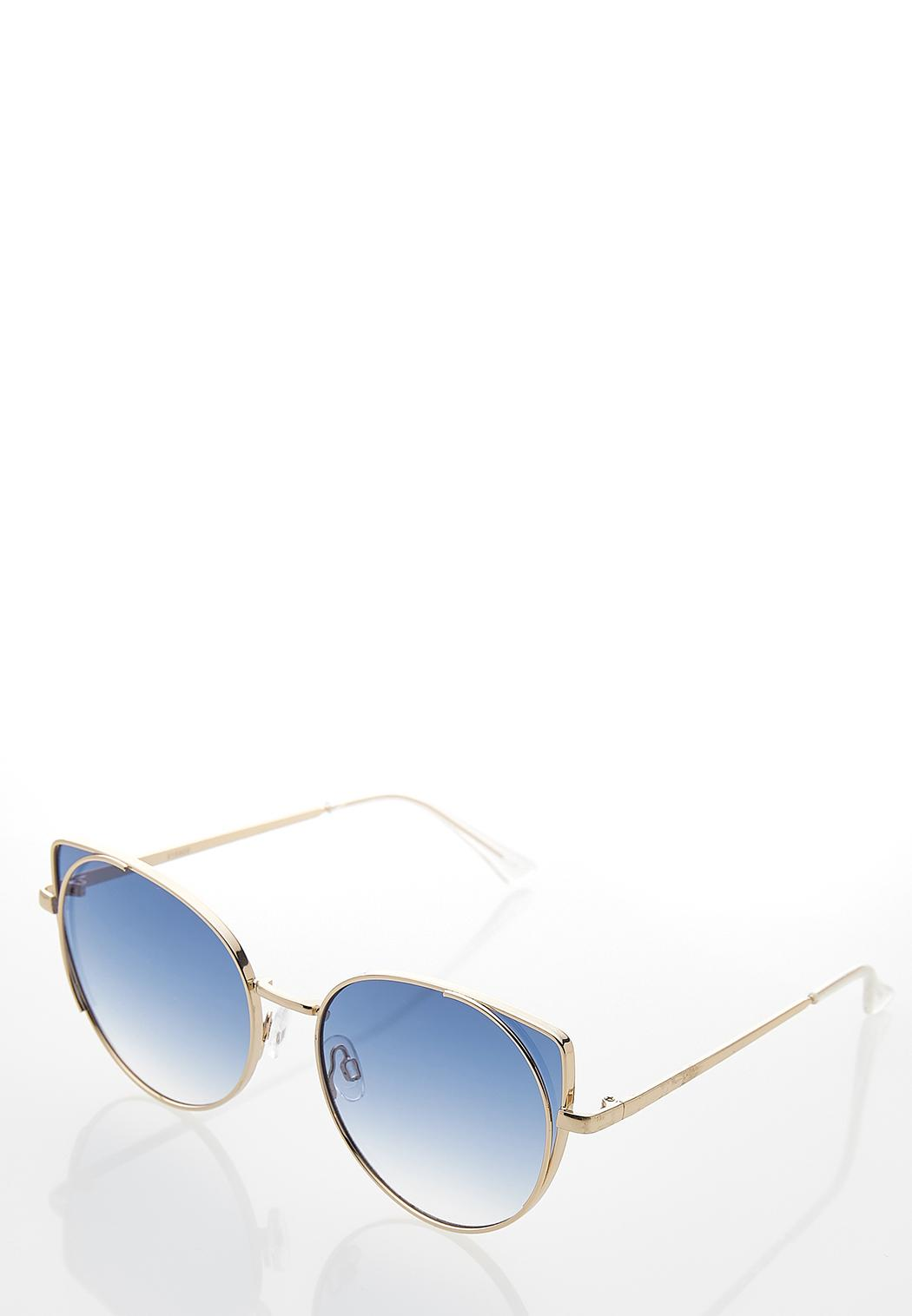 Metal Rim Cateye Sunglasses (Item #44249725)