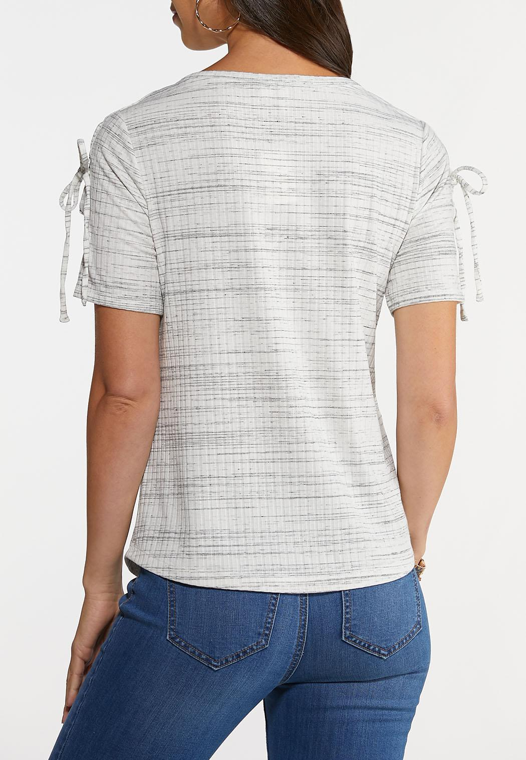 Lace Up Sleeve Top (Item #44249787)