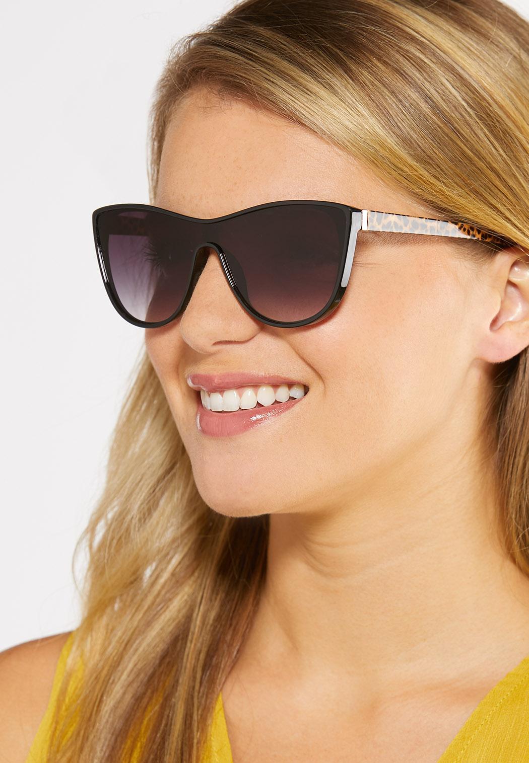 Leopard Arm Shield Sunglasses (Item #44249932)