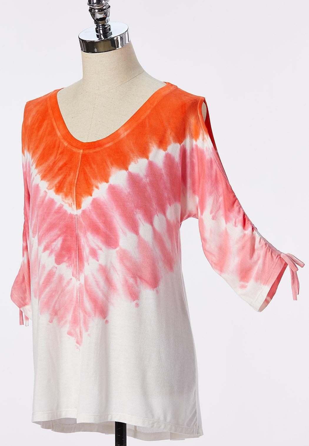 Plus Size Sunset Tie Dye Top (Item #44250196)