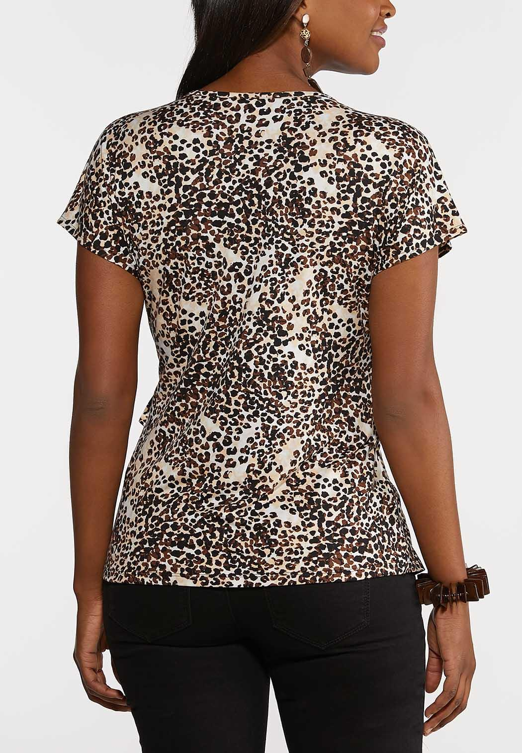 Leopard Wrap Top (Item #44250582)