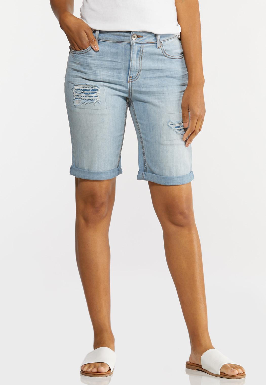 Floral Patchwork Denim Shorts (Item #44250922)