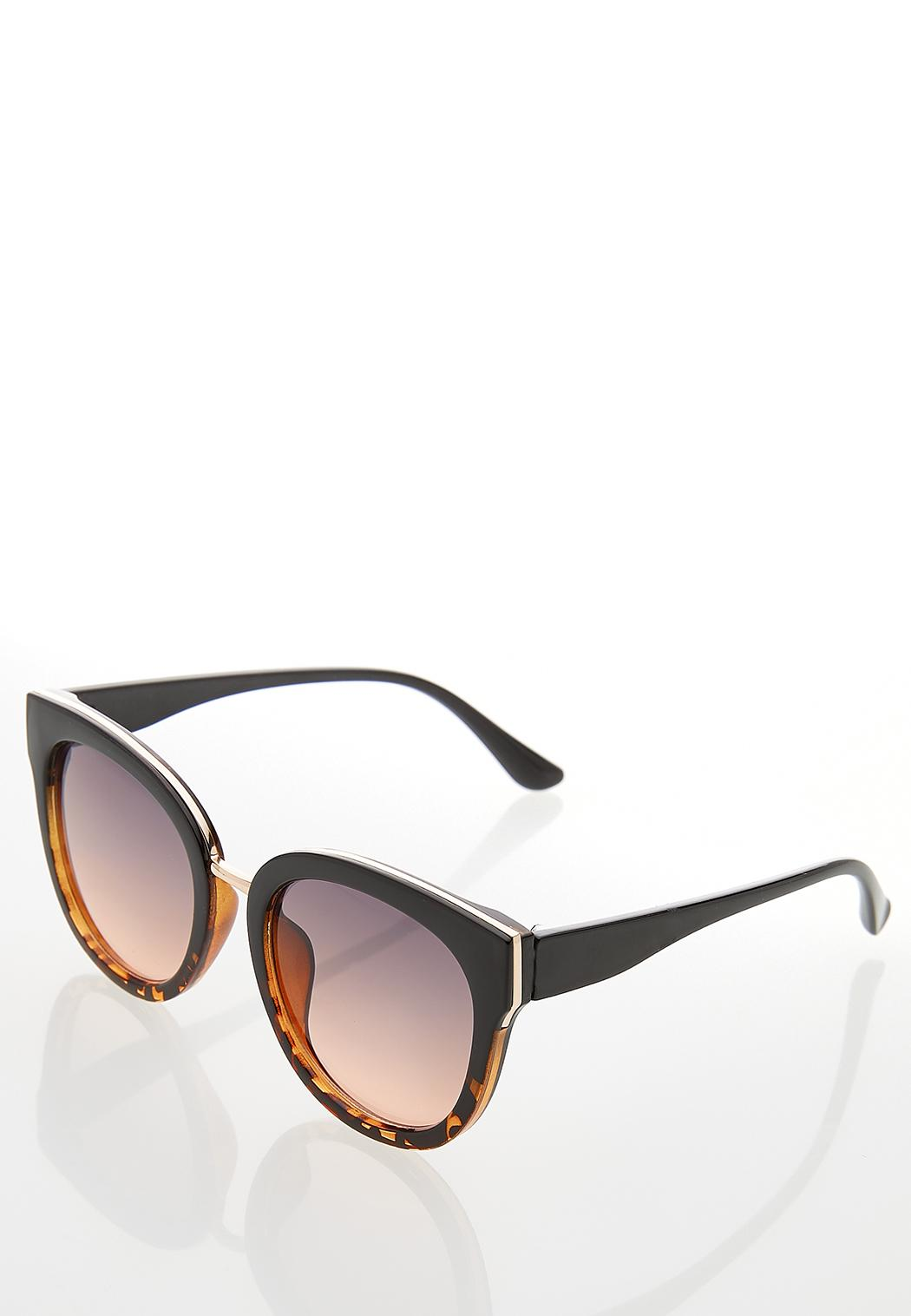 Tort Bottom Round Sunglasses (Item #44250946)