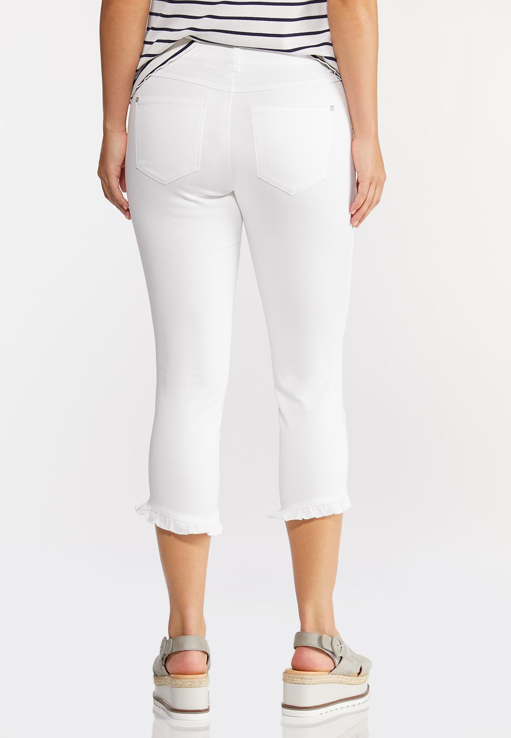 Cropped Ruffle Skinny Jeans (Item #44252665)