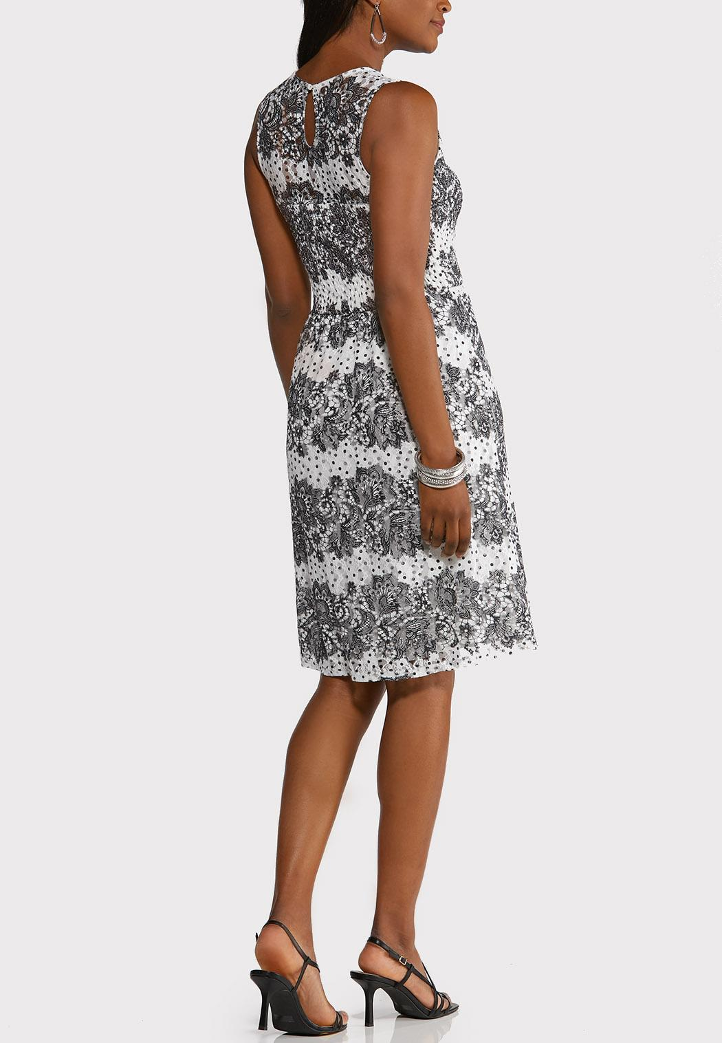 Dot And Lace Dress (Item #44252908)