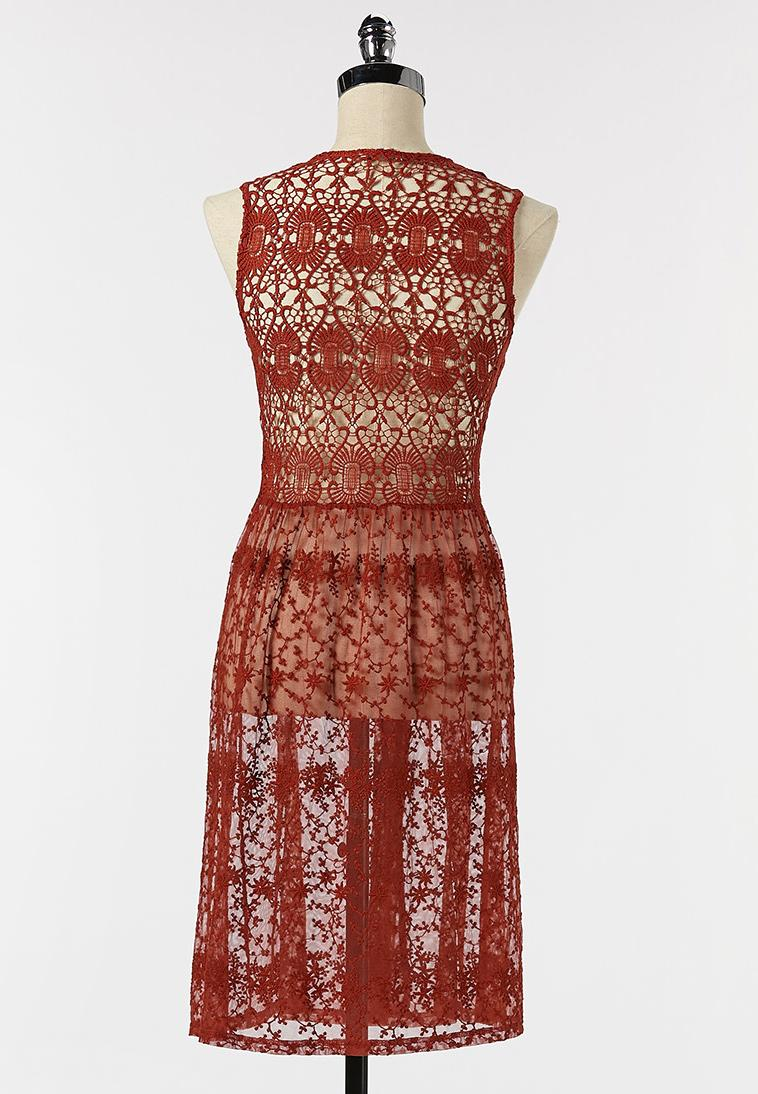Plus Size Picante Crochet Mesh Vest (Item #44253623)
