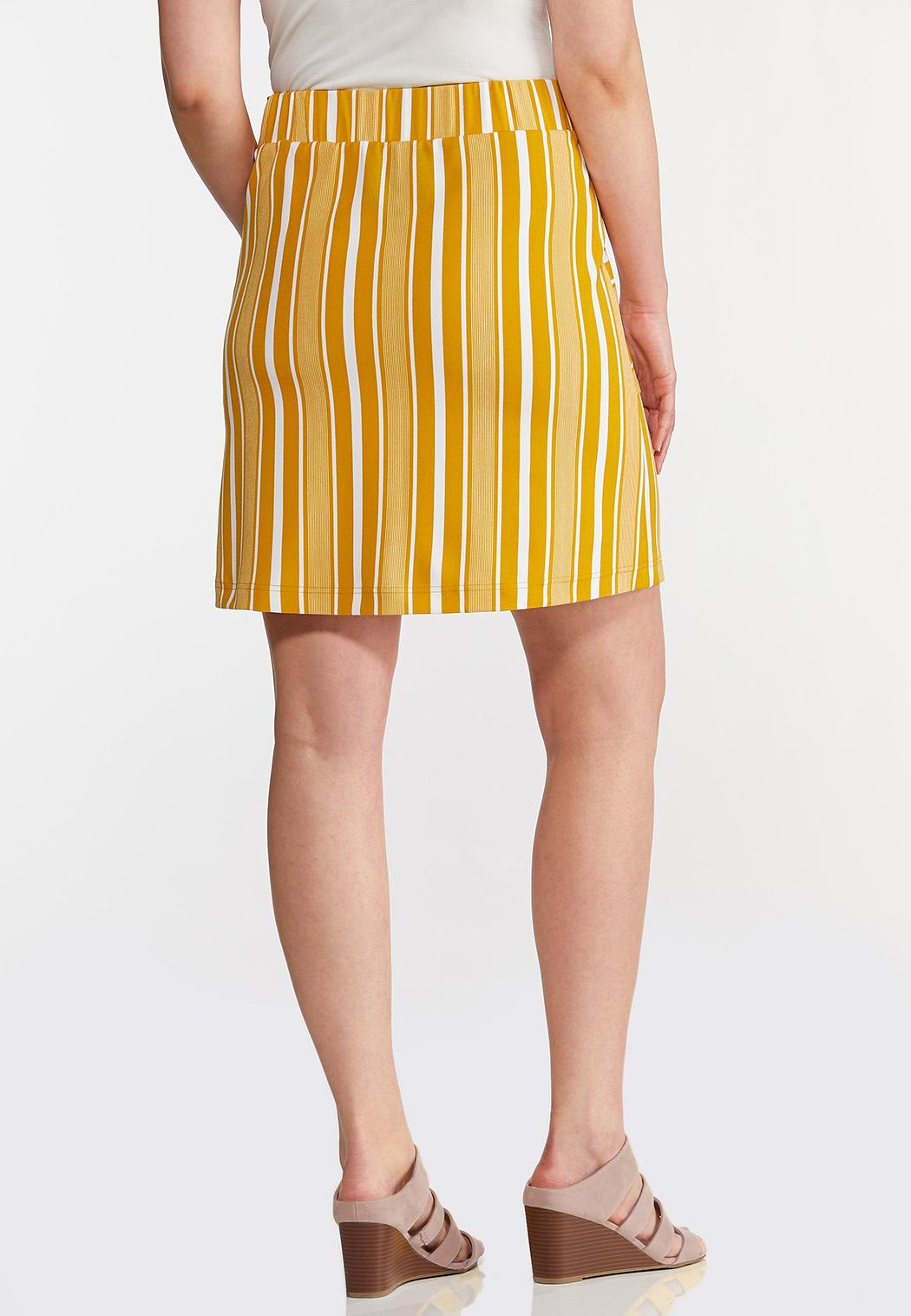 Plus Size Stripe Weekend Mini Skirt (Item #44255890)