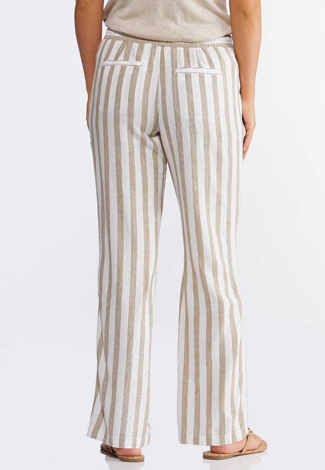 Striped Linen Drawstring Pants (Item #44257130)