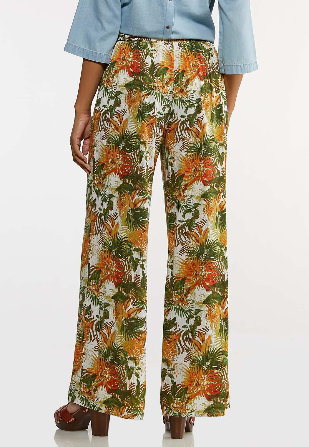 Tropical Floral Gauze Pants (Item #44257390)