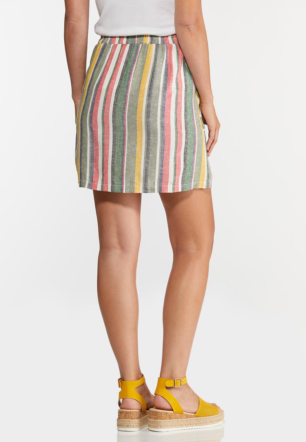 Striped Side Pocket Skirt (Item #44257654)