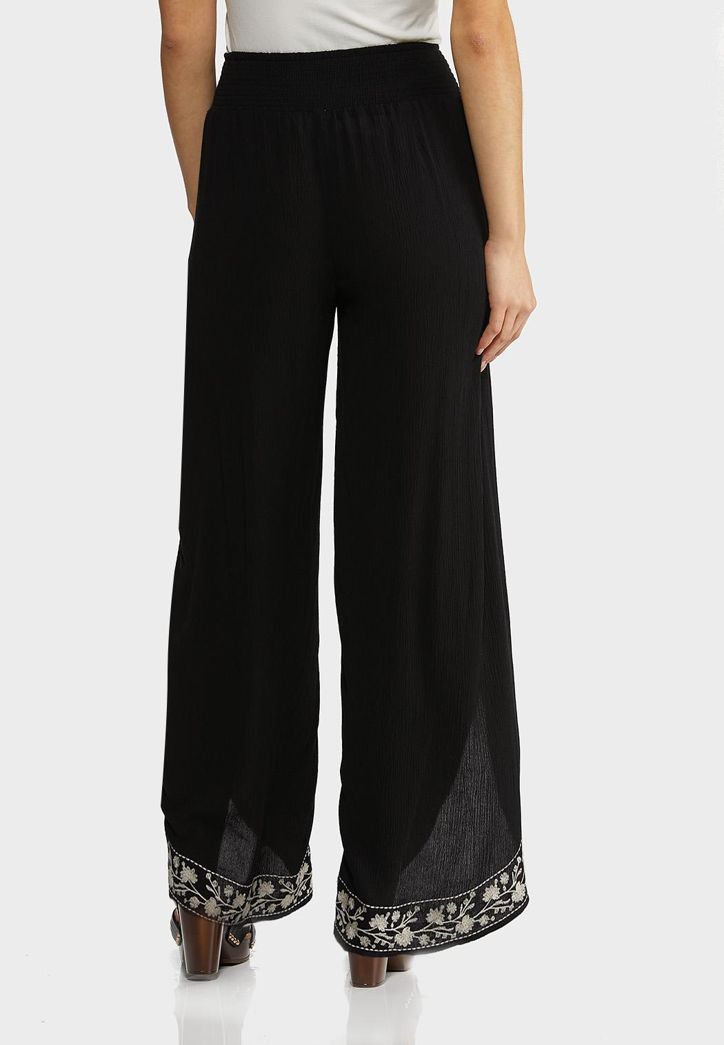 Gauzy Embroidered Flyaway Pants (Item #44257903)