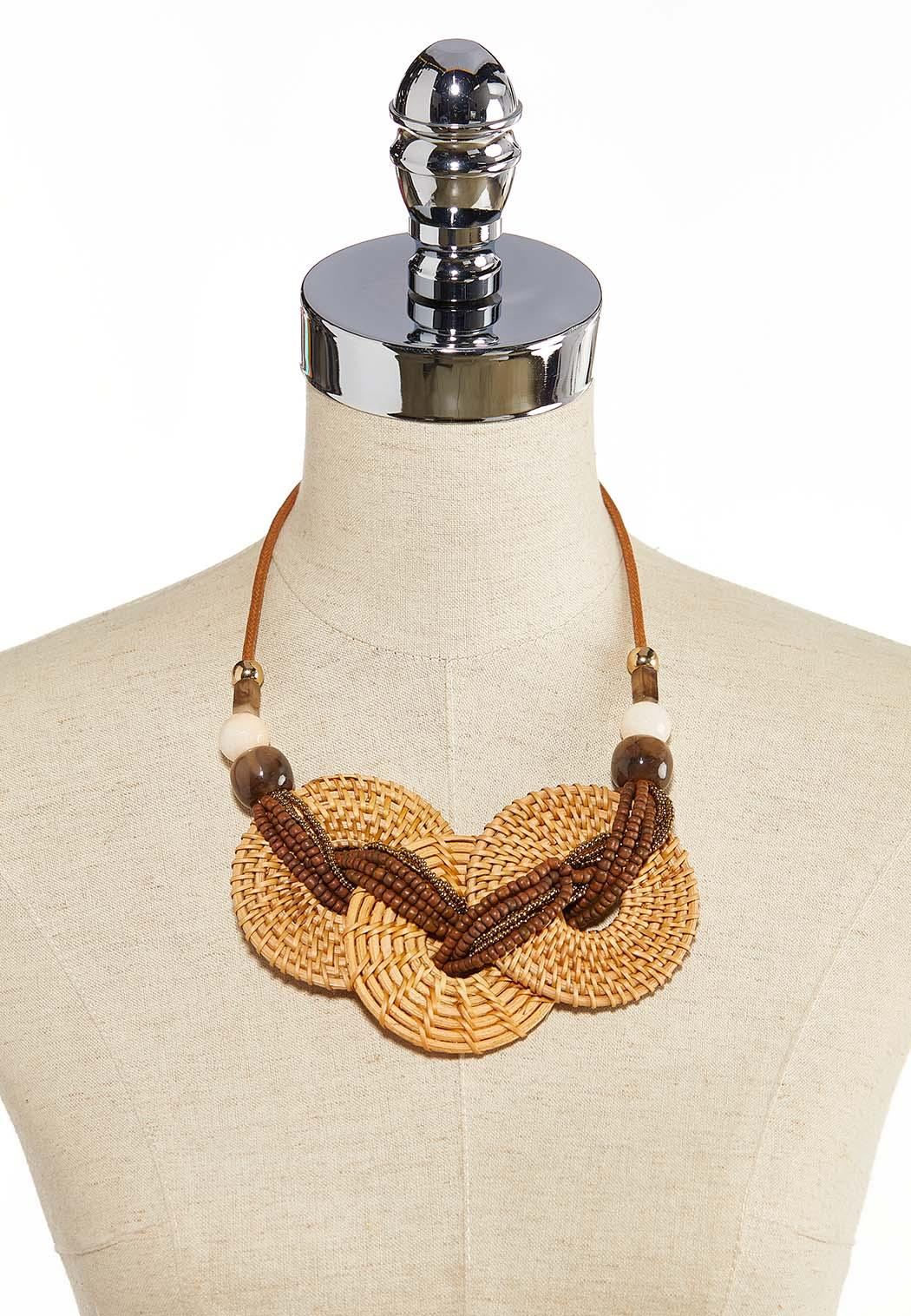 Triple Straw Ring Necklace (Item #44258454)