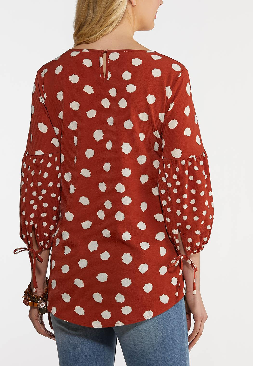 Rust Polka Dot Top (Item #44259270)
