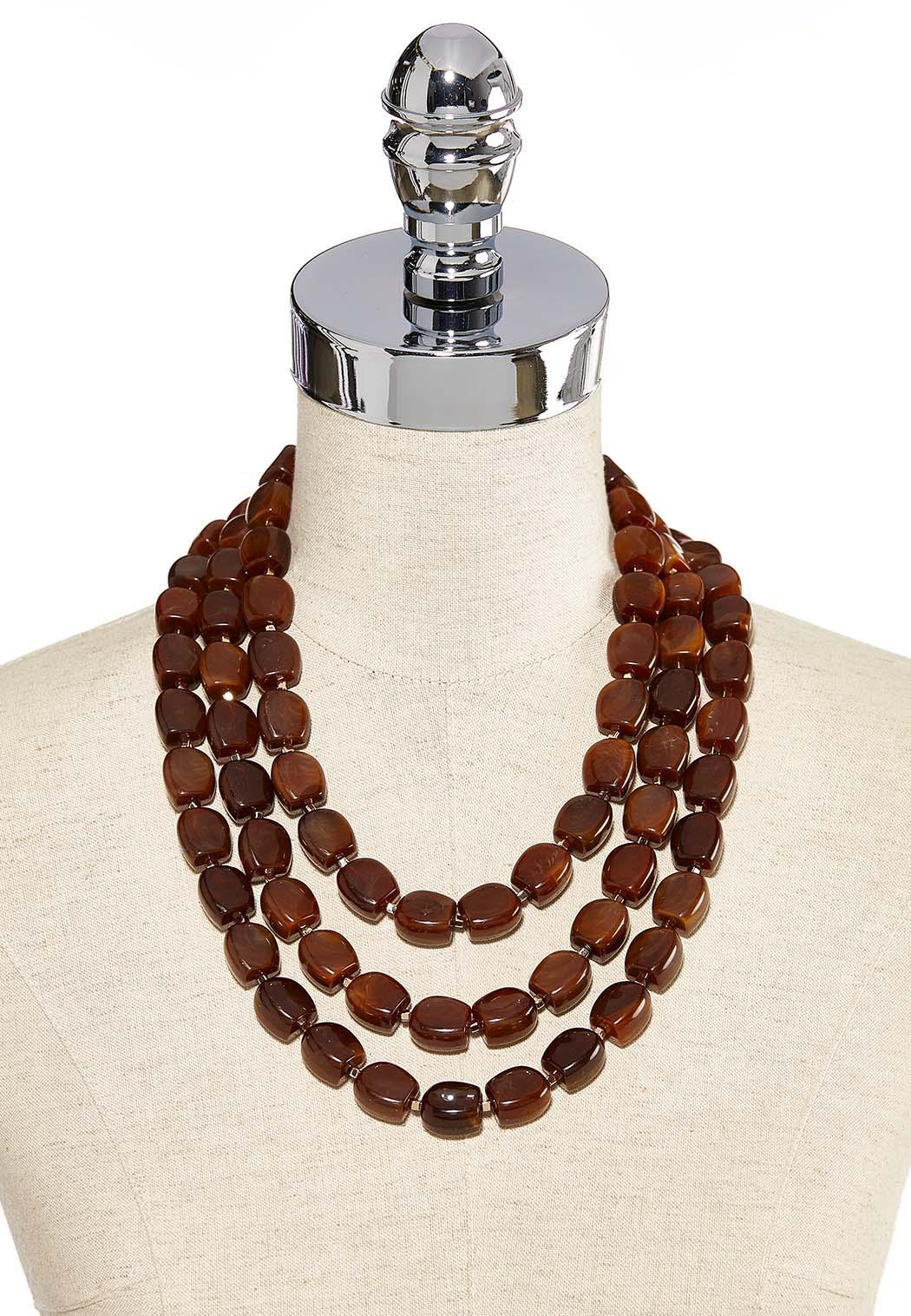 Triple Wood Bead Necklace (Item #44259390)