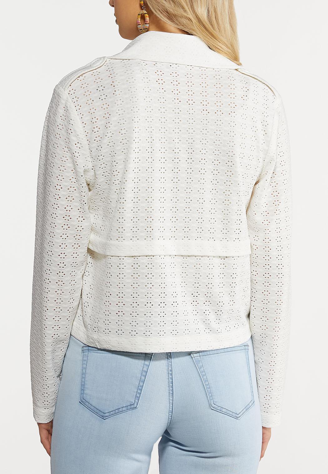 Eyelet Knit Moto Jacket (Item #44259517)