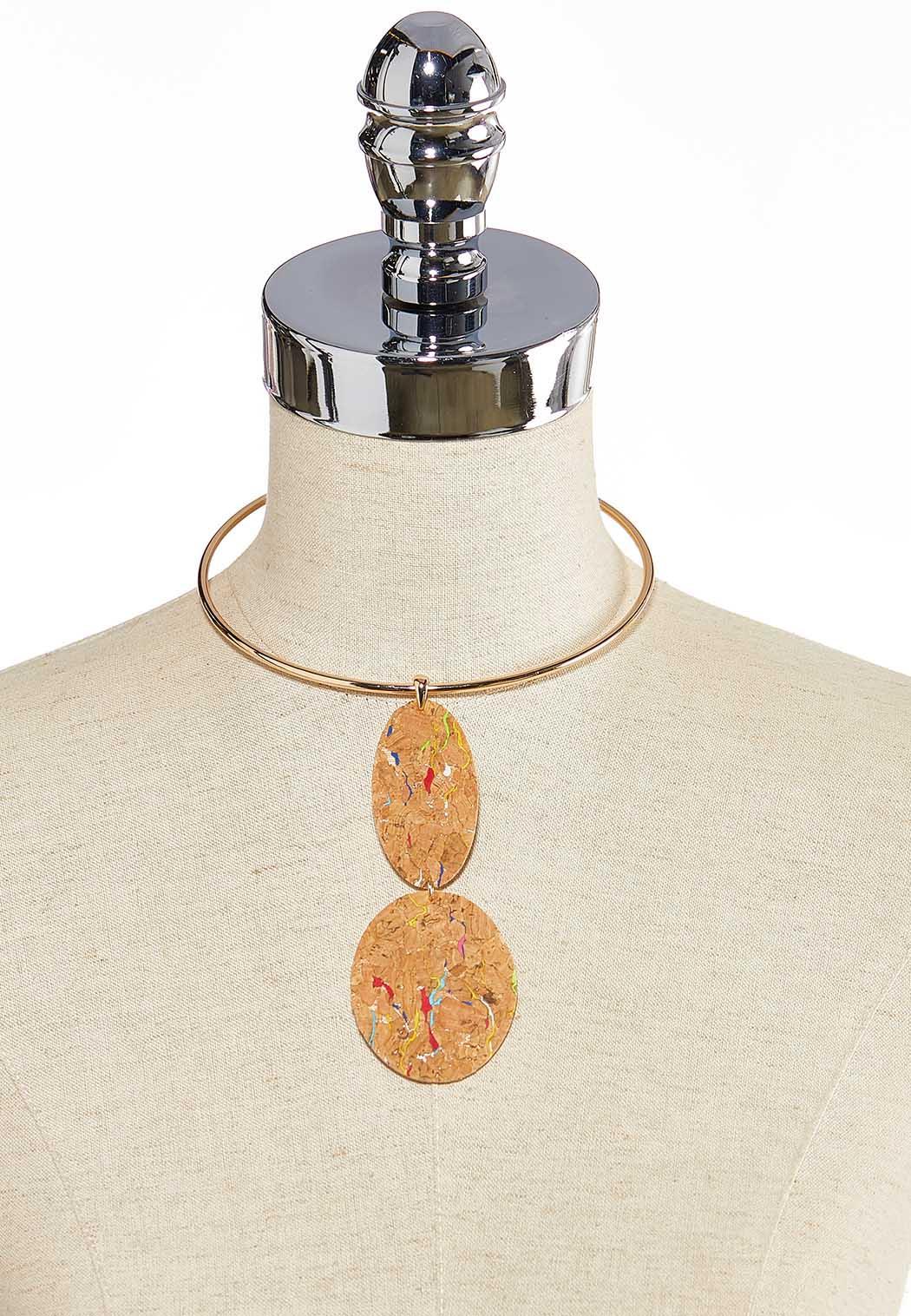 Cork Pendant Necklace (Item #44260536)