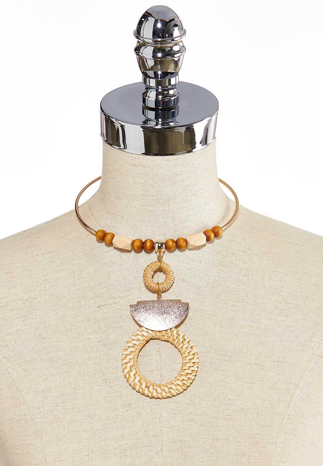 Raffia Pendant Necklace (Item #44260538)
