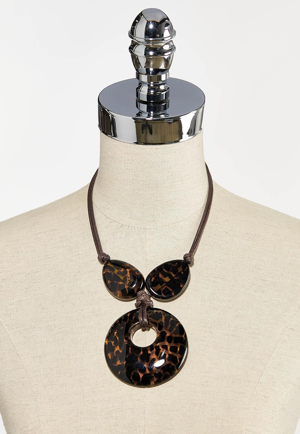 Animal Print Pendant Necklace (Item #44260851)