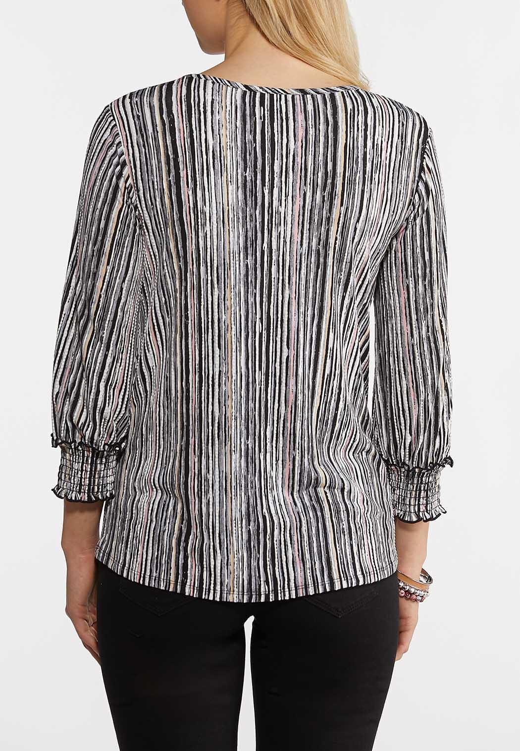 Textured Evening Stripe Top (Item #44262846)