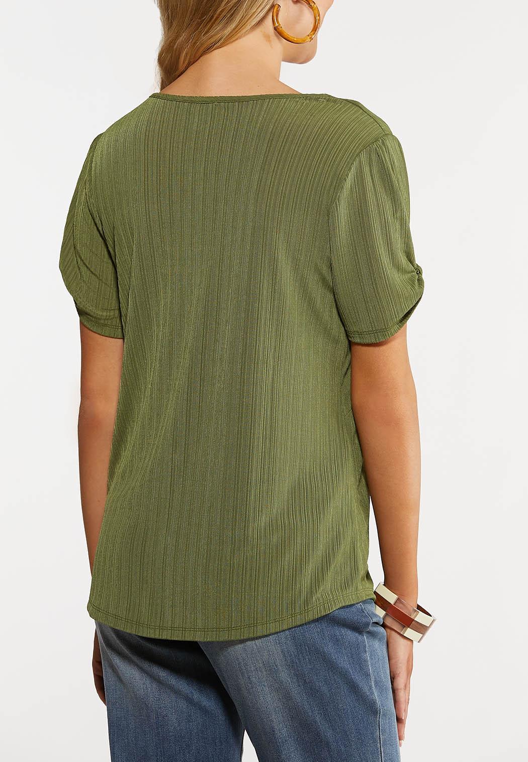 Olive Twist Sleeve Top (Item #44263134)