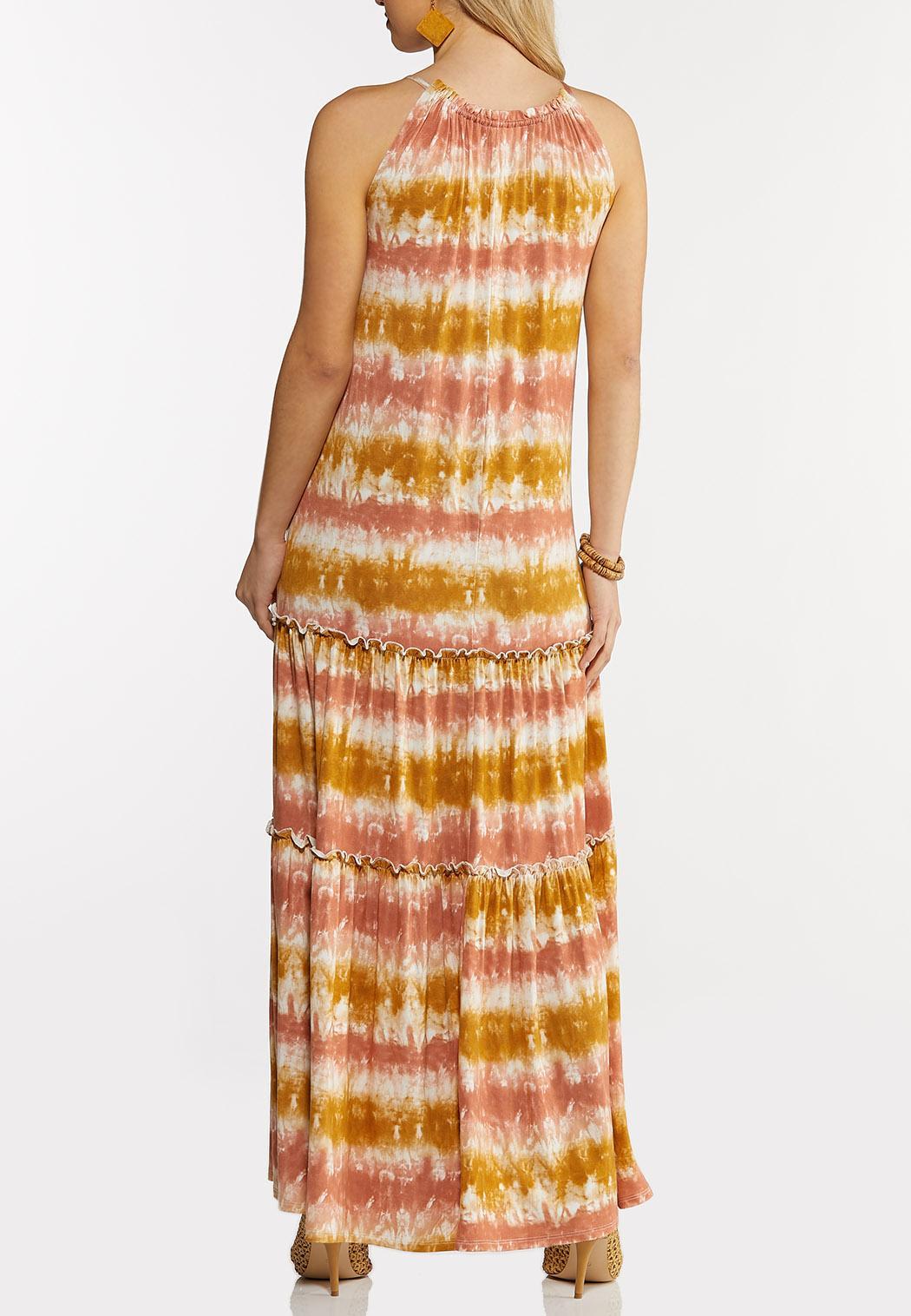 Plus Size Tiered Tie Dye Maxi Dress (Item #44264310)