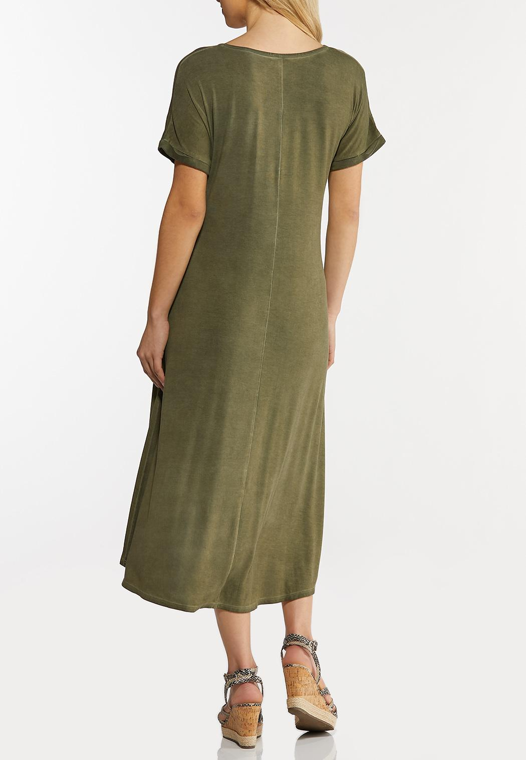 Plus Size Olive High-Low Dress (Item #44264372)