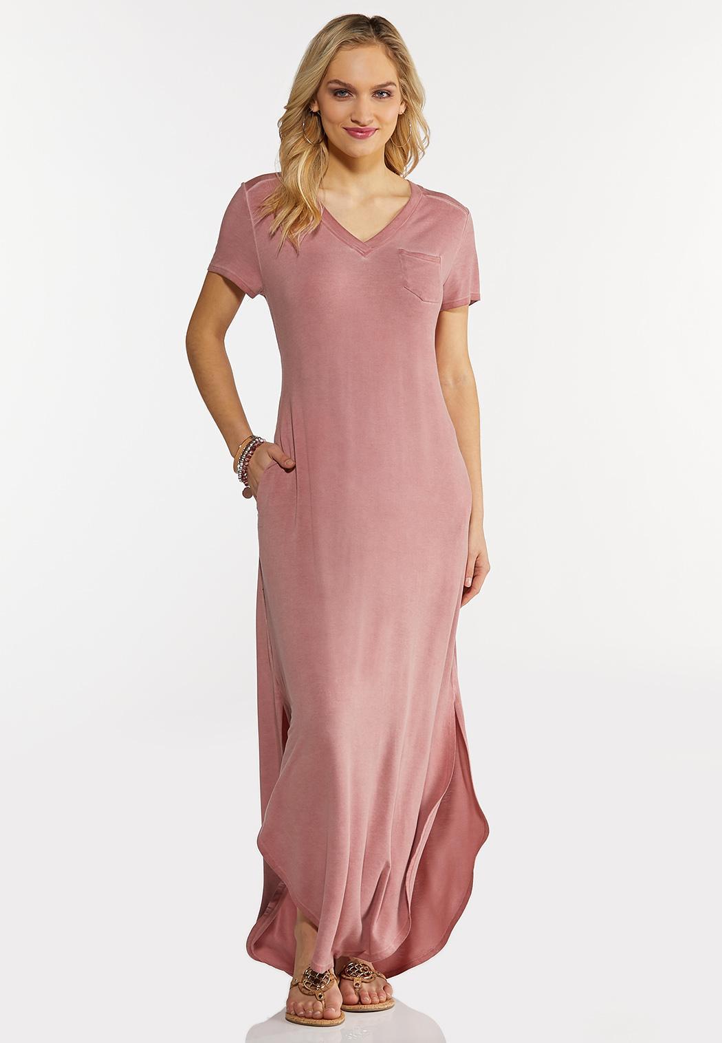 Plus Petite Rose Knotted Maxi Dress (Item #44264582)