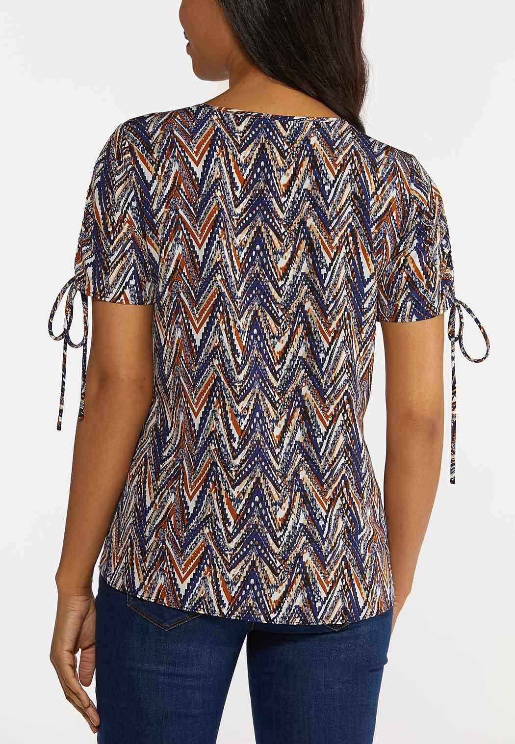 Chevron Split Sleeve Top (Item #44265282)