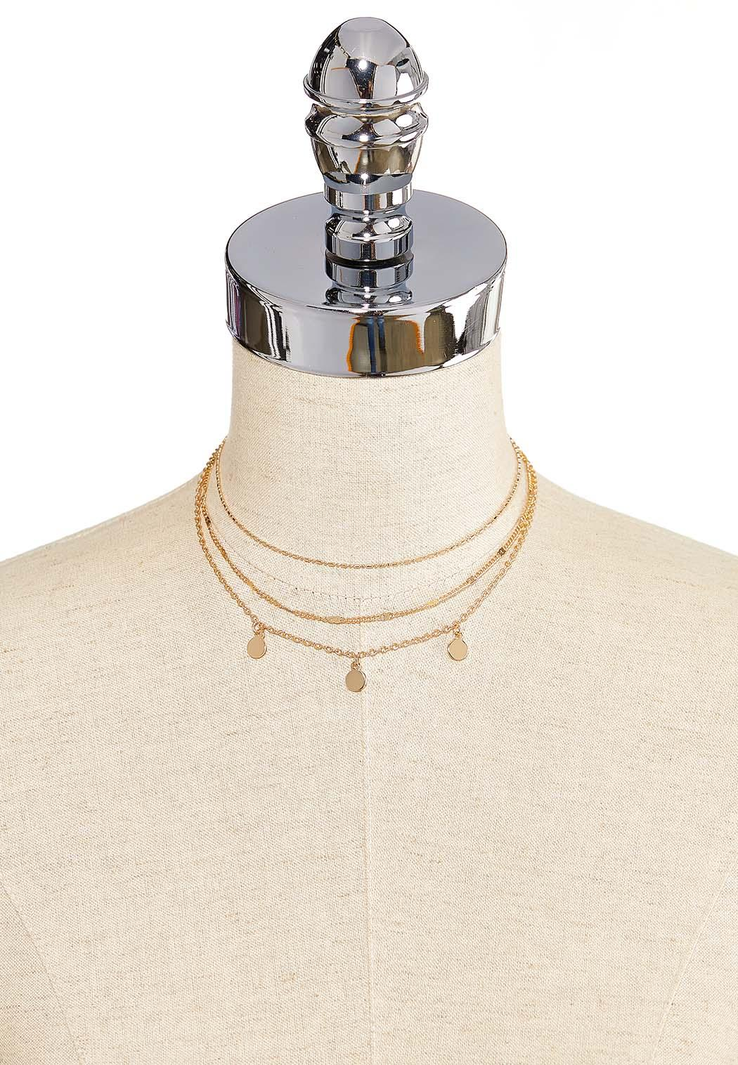 Delicate Disc Choker Necklace (Item #44265562)