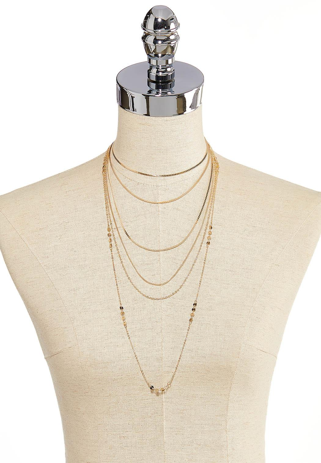 Delicate Layered Chain Necklace (Item #44265570)