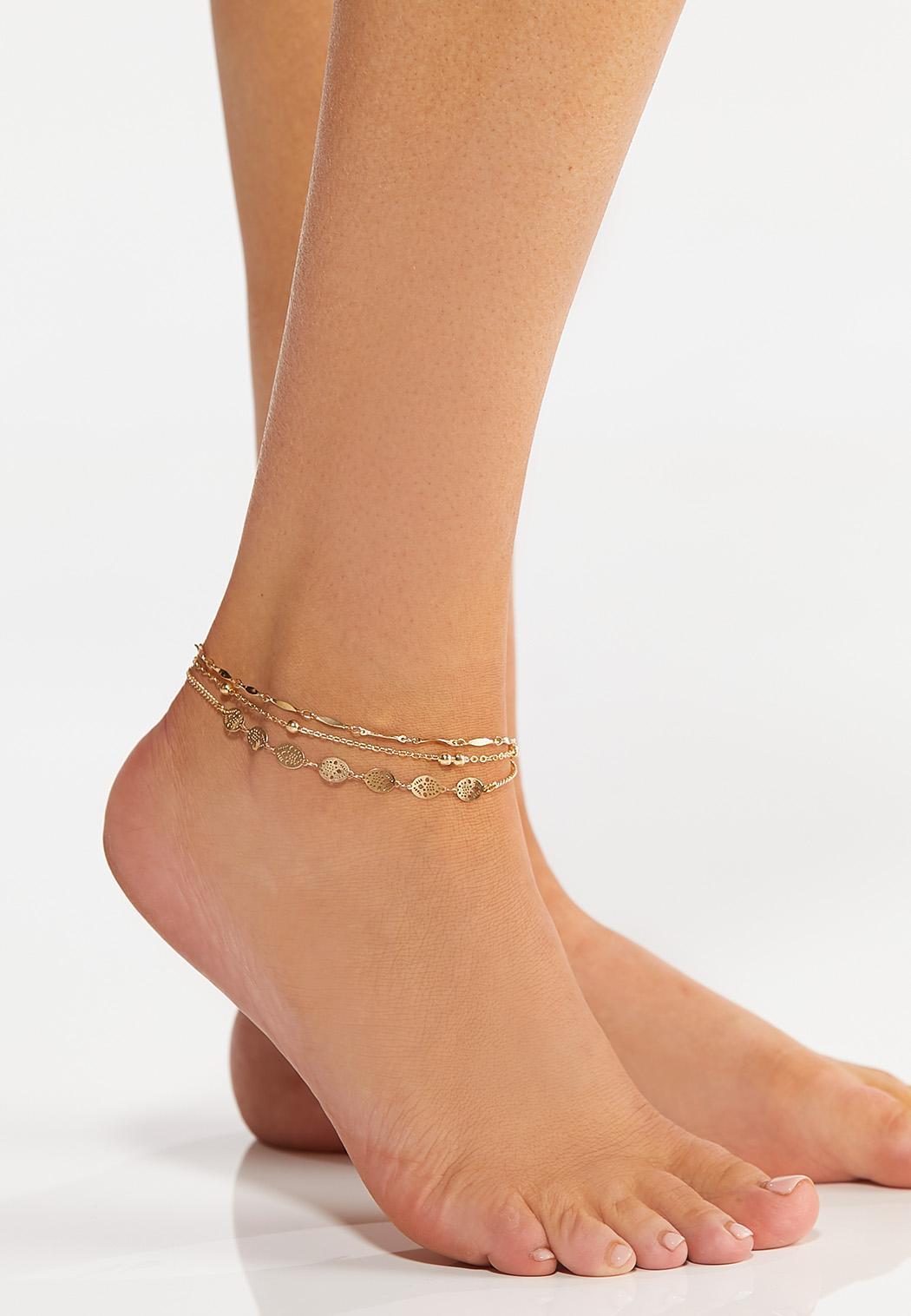 Layered Filigree Chain Anklet (Item #44265750)