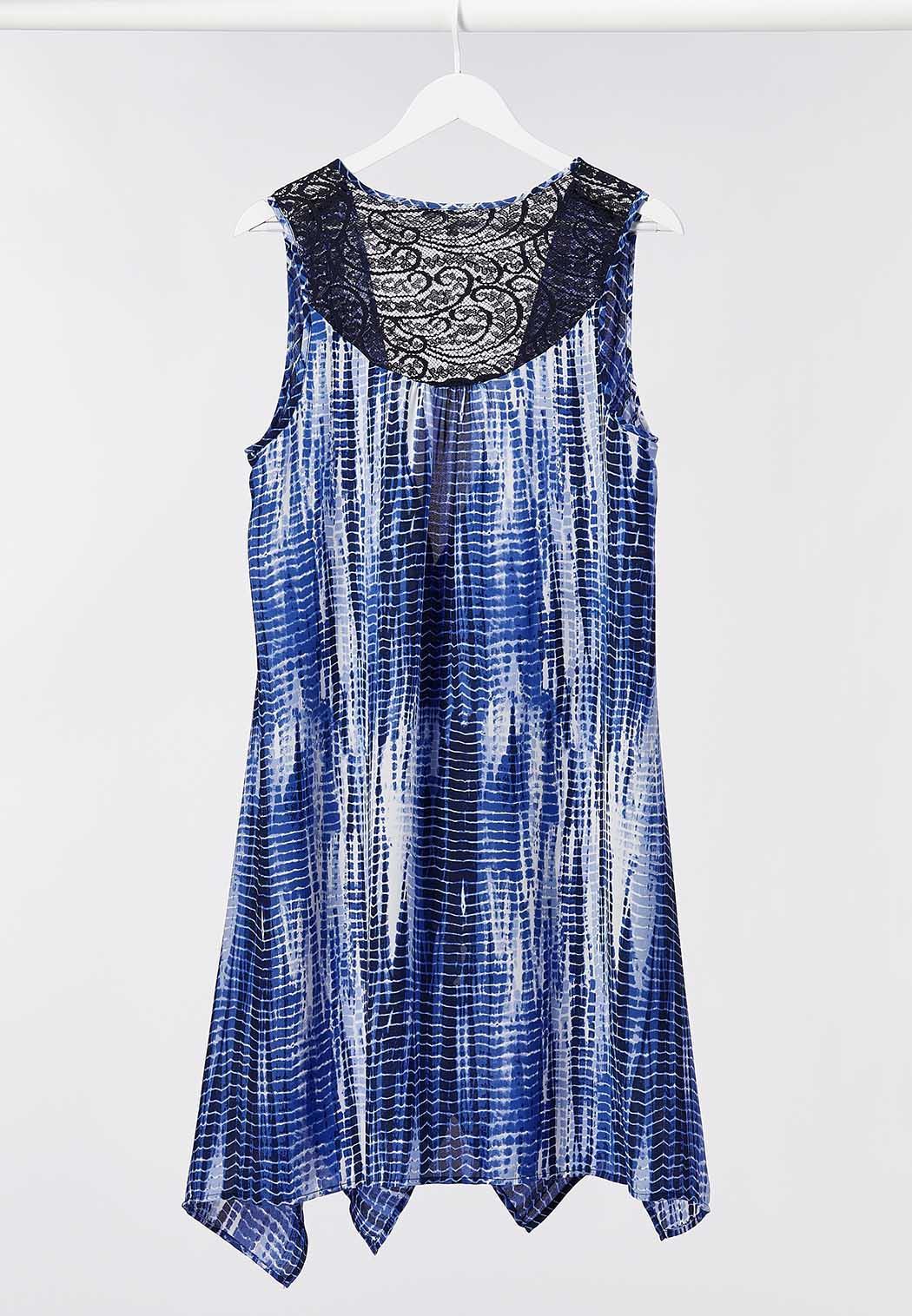 Plus Size High-Low Lace Trim Vest (Item #44266048)