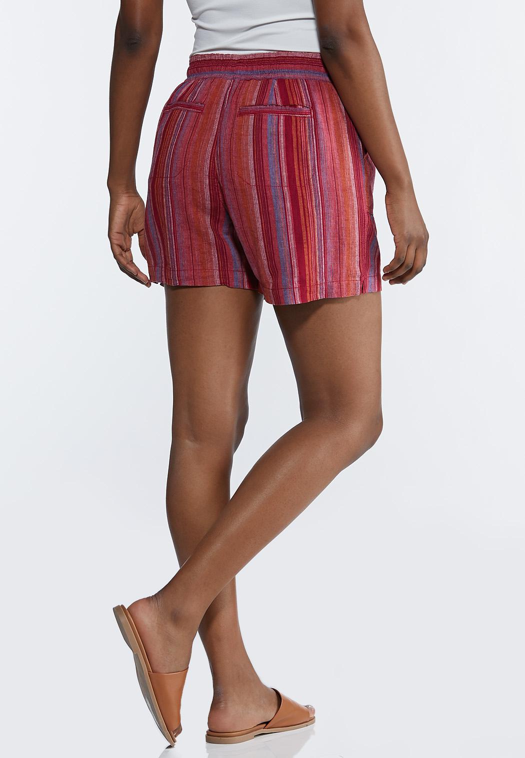 Pink Stripe Linen Shorts (Item #44266855)