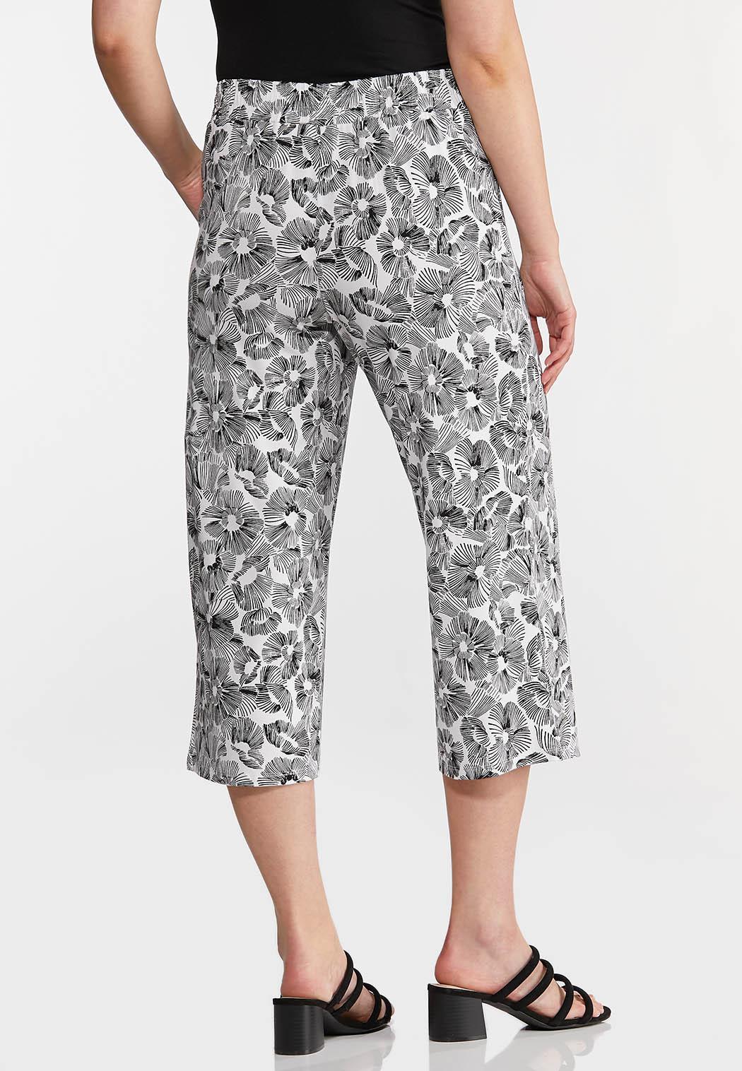 Cropped Sketch Floral Pants (Item #44267686)