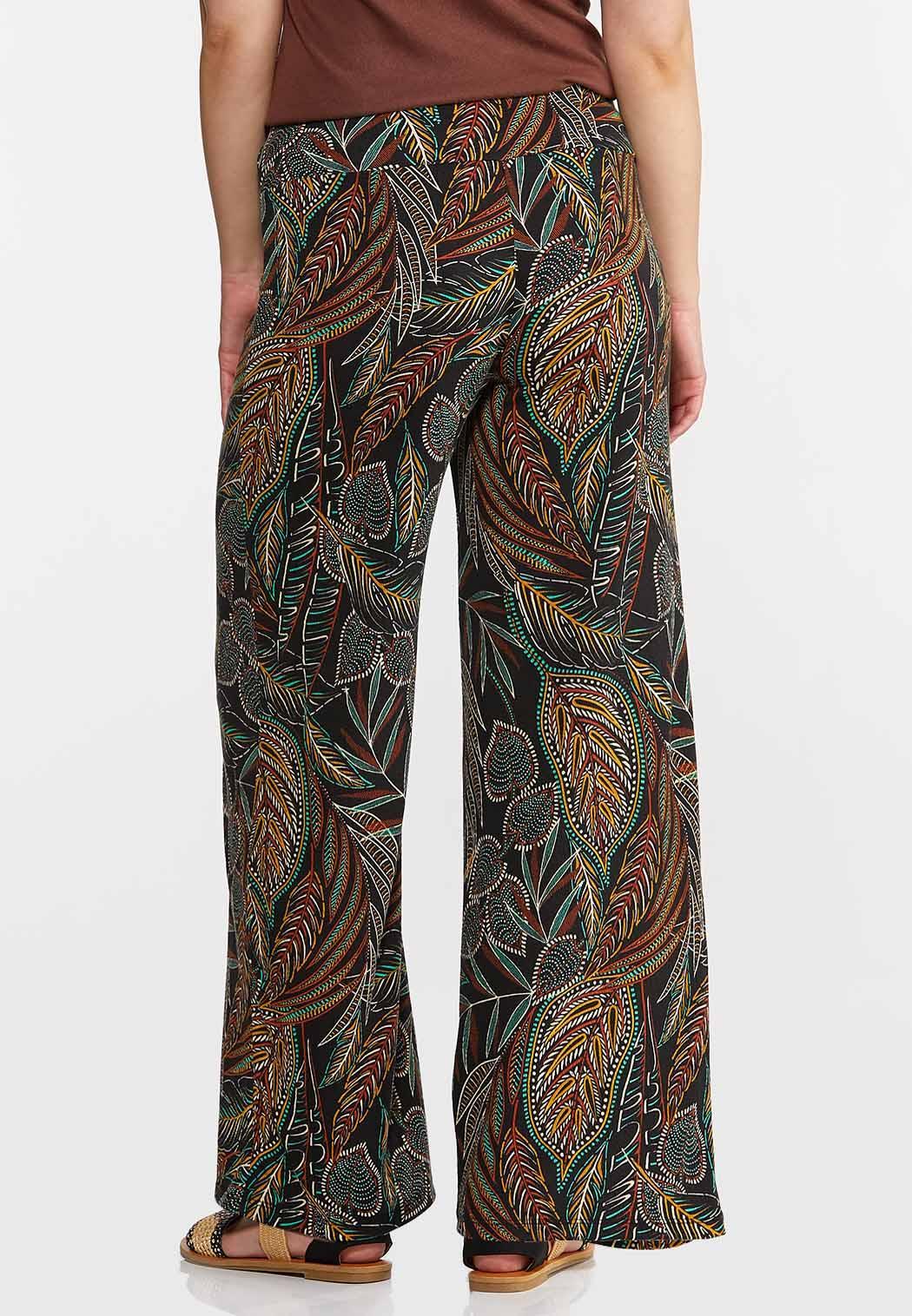 Jungle Leaf Wide Leg Pants (Item #44267922)