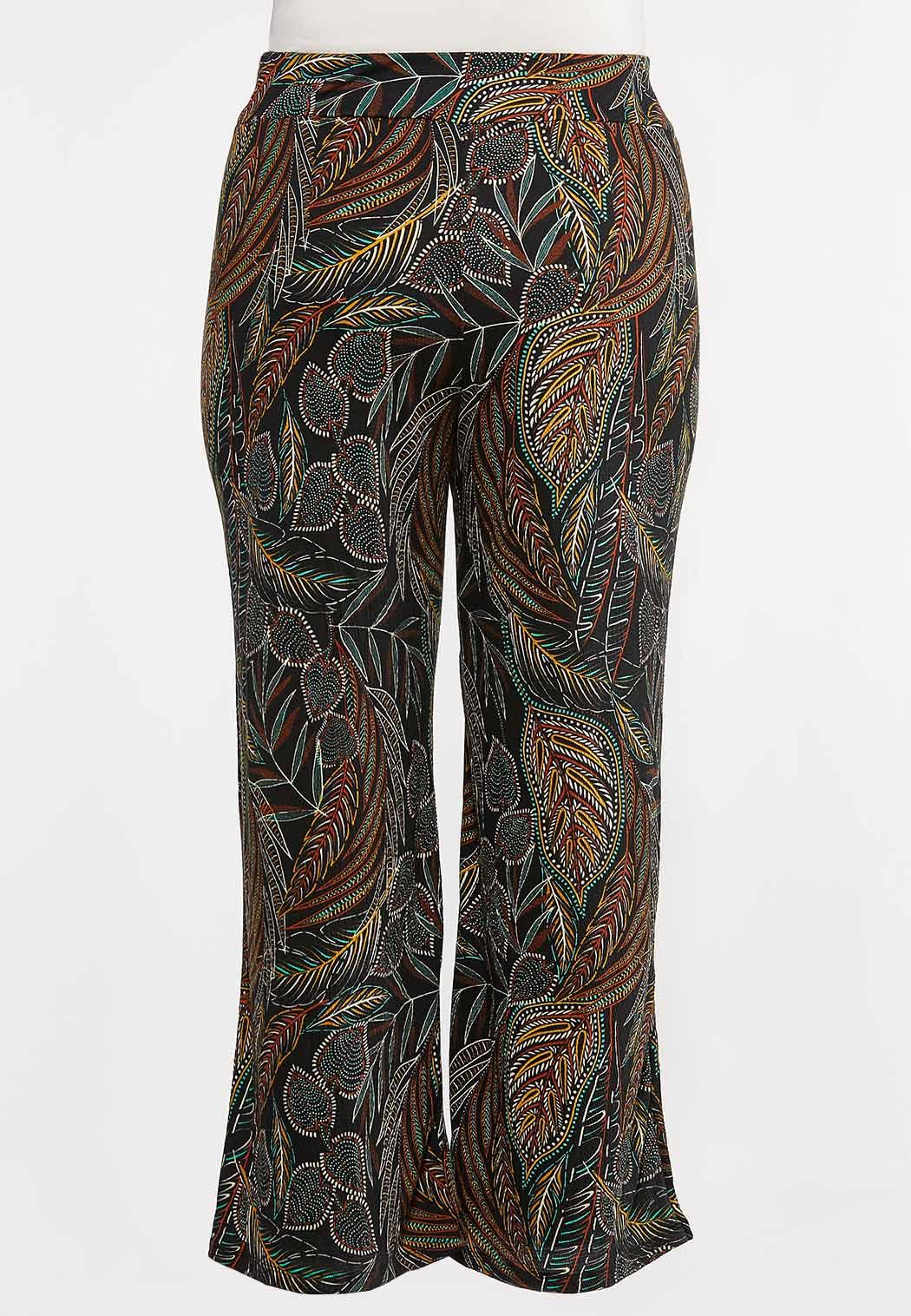 Plus Petite Jungle Leaf Wide Leg Pants (Item #44268065)