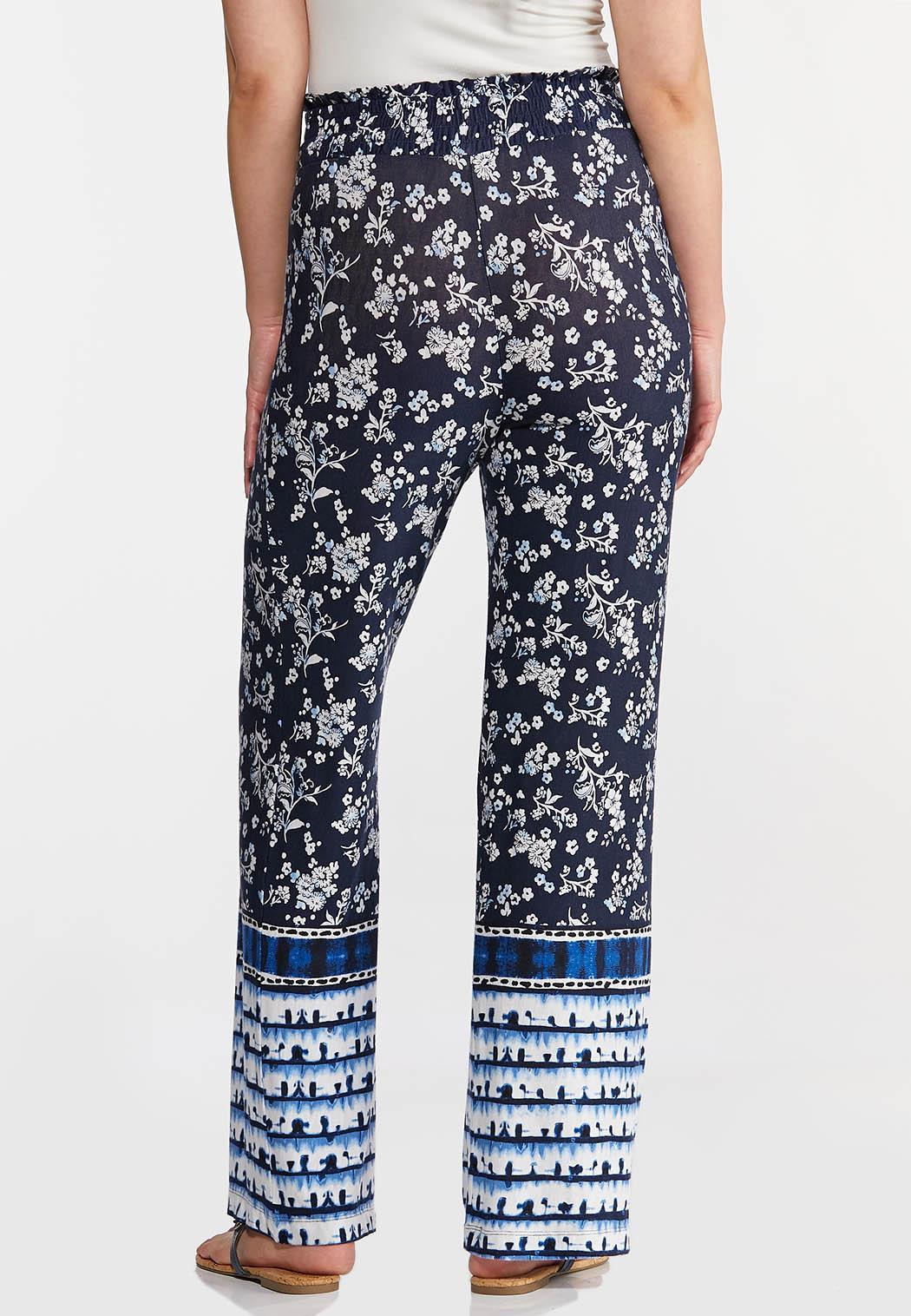 Floral Tie Dye Panel Pants (Item #44268113)