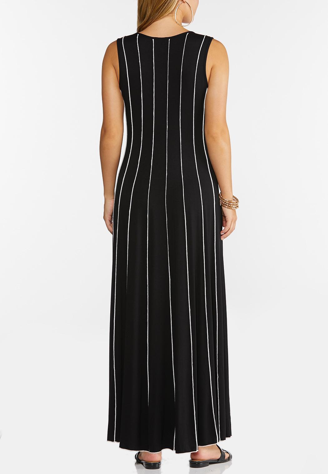 Plus Petite Striped Seamed Maxi Dress (Item #44268467)