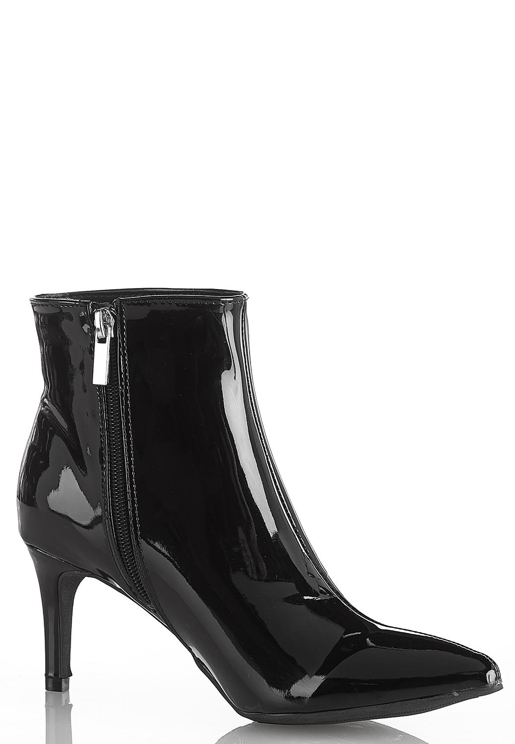 Patent Pointy Toe Booties (Item #44268663)