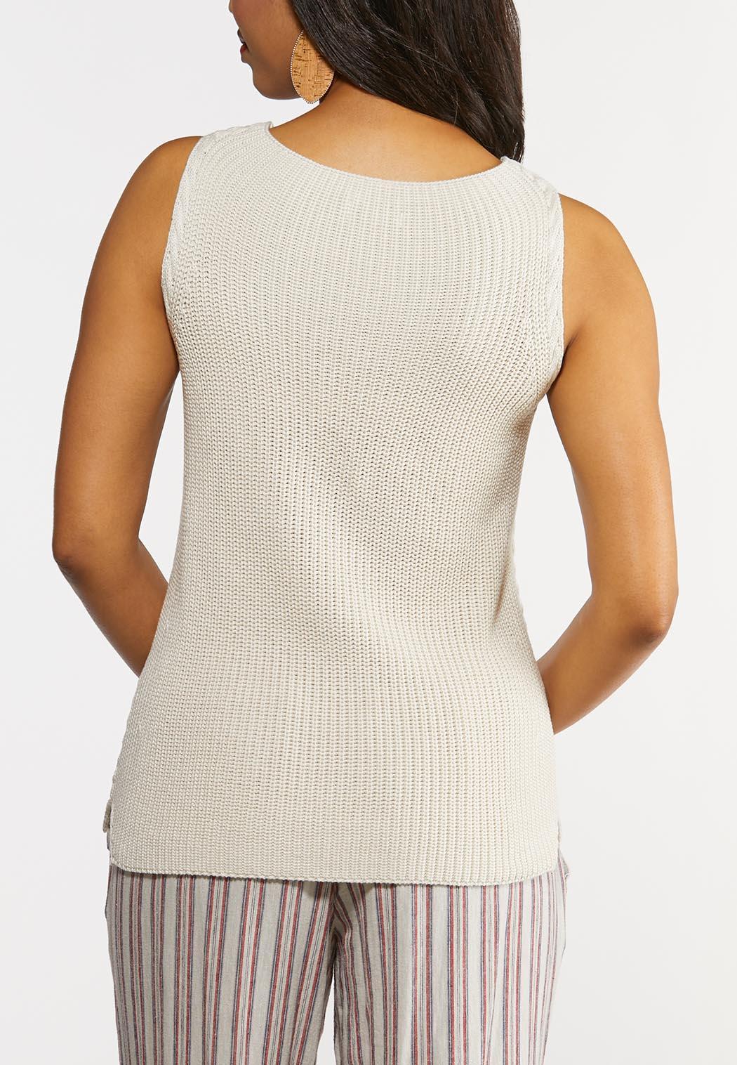 Plus Size Braided Sweater Tank (Item #44268810)